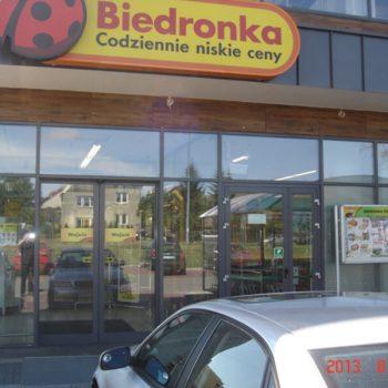 Drzwi przesuwne Biedronka