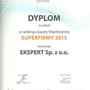 Certyfikat Super Firma